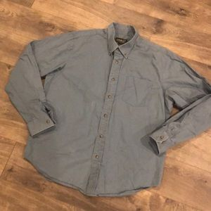 Eddie Bauer Casual Button Front Shirt Size Large